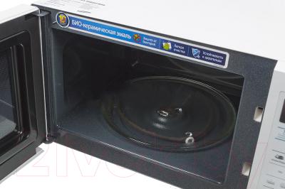 Микроволновая печь Samsung ME73AR-S - с открытой крышкой