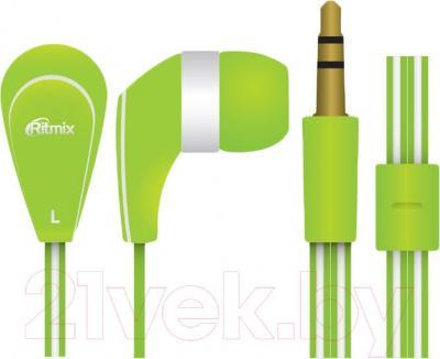 Наушники Ritmix RH-181 (зеленый) - общий вид