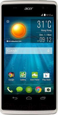 Смартфон Acer Liquid Z500 (серебристый) - общий вид