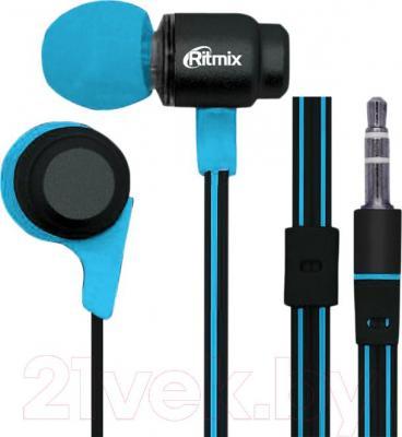 Наушники Ritmix RH-185 (черно-синий) - общий вид