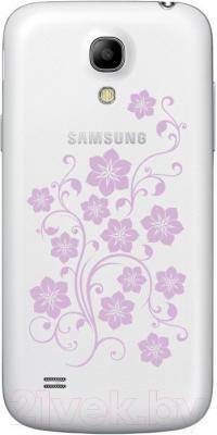 Смартфон Samsung Galaxy S4 La Fleur / I9500 (белый) - вид сзади