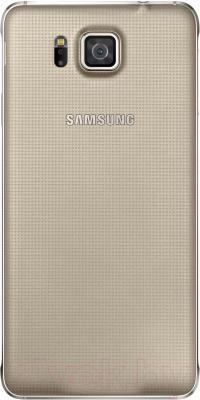 Смартфон Samsung G850F Galaxy Alpha (золотой) - вид сзади