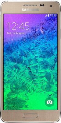 Смартфон Samsung G850F Galaxy Alpha (золотой) - общий вид