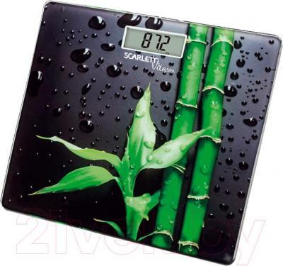 Напольные весы электронные Scarlett SC-BS33E051 (Bamboo) - общий вид