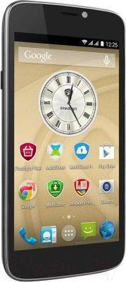 Смартфон Prestigio MultiPhone 3502 Duo (черный) - вполоборота
