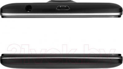 Смартфон Prestigio MultiPhone 5507 Duo (черный) - верхняя и нижняя панели