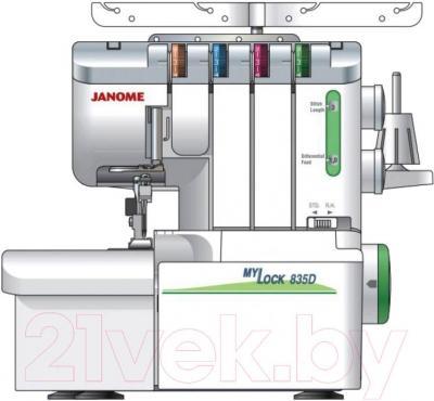 Оверлок Janome M-835D - общий вид
