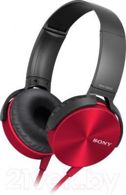 Наушники-гарнитура Sony MDR-XB450APR - общий вид