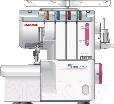 Оверлок Janome M-875D - общий вид