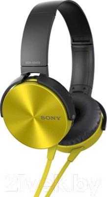 Наушники-гарнитура Sony MDR-XB450APY - общий вид