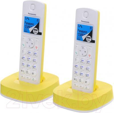 Беспроводной телефон Panasonic KX-TGC312RUY - общий вид