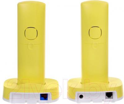 Беспроводной телефон Panasonic KX-TGC312RUY - вид сзади