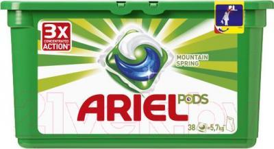 Гель для стирки Ariel Горный родник (Автомат, 38х28.8г) - общий вид