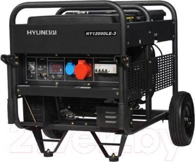 Бензиновый генератор Hyundai HY12000LE-3 ATS - общий вид