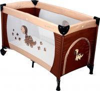 Кровать-манеж Coto baby Samba Proste (коричневый) -