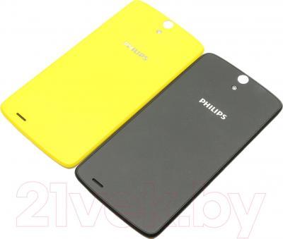 Смартфон Philips Xenium V387 (черный + желтая сменная панель) - сменные задние панели
