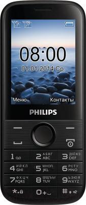 Мобильный телефон Philips Xenium E160 (черный) - общий вид