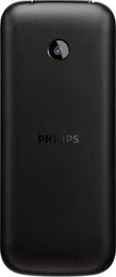 Мобильный телефон Philips Xenium E160 (черный) - вид сзади