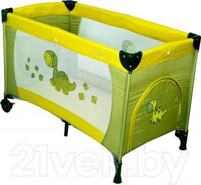 Кровать-манеж Coto baby Samba Proste (зеленый) - общий вид