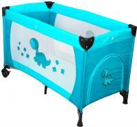Кровать-манеж Coto baby Samba Proste (голубой) -