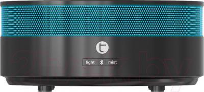Ультразвуковой увлажнитель воздуха Timberk THU ADF 01 (BL) - общий вид с синей подсветкой
