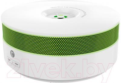 Ультразвуковой увлажнитель воздуха Timberk THU ADF 01 (W) - общий вид с зеленой подсветкой
