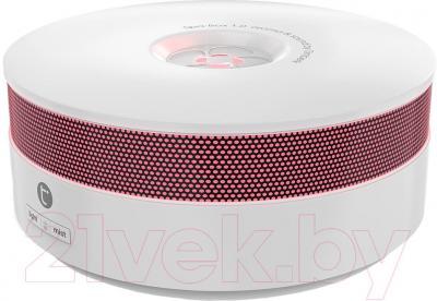 Ультразвуковой увлажнитель воздуха Timberk THU ADF 01 (W) - общий вид с красной подсветкой