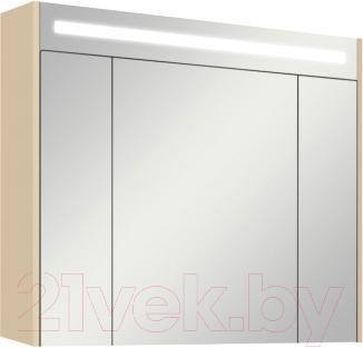 Шкаф с зеркалом для ванной Акватон Блент 80 (1A161002BLA70) - общий вид