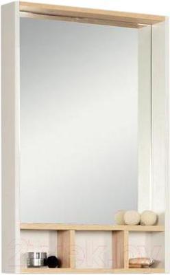 Шкаф с зеркалом для ванной Акватон Йорк 60 (1A170102YOAD0) - общий вид с аксессуарами