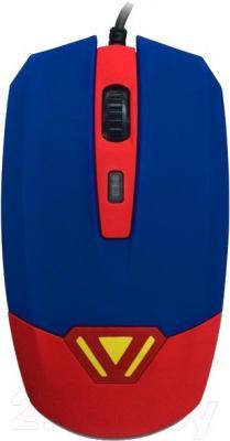 Мышь CBR CM 833 (Superman) - вид сверху