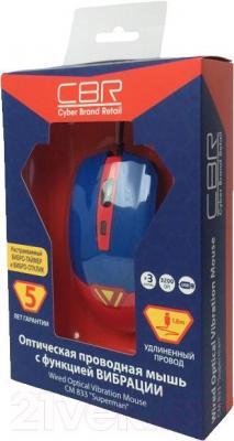 Мышь CBR CM 833 (Superman) - упаковка