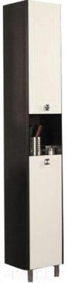 Шкаф-пенал для ванной Акватон Крит (1A163603KT50L) - общий вид (аксессуары приобретаются отдельно)