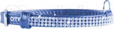 Ошейник Collar 33082 (S, синий, с украшением) - общий вид