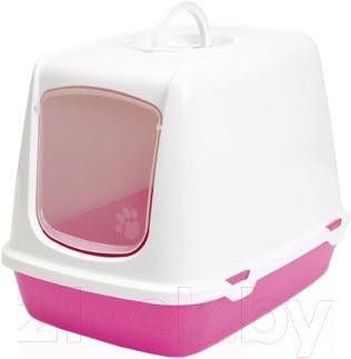 Туалет-домик Savic Oscar 026500LF (светло-серый/фуксия) - общий вид