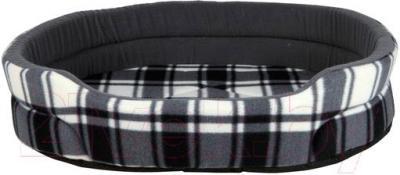 Лежанка для животных Trixie Mirlo Bed 37136 (бело-серый) - общий вид