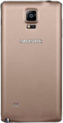 Смартфон Samsung Galaxy Note 4 / N910C (золотой) - вид сзади