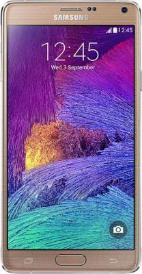 Смартфон Samsung Galaxy Note 4 / N910C (золотой) - общий вид