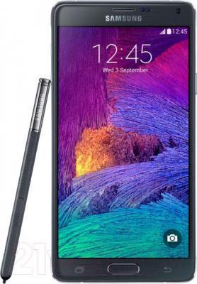 Смартфон Samsung Galaxy Note 4 / N910C (черный) - общий вид