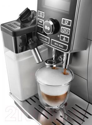 Кофемашина DeLonghi ECAM 25.462.S - приготовление каппучино