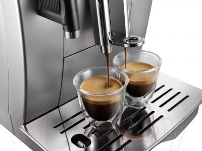Кофемашина DeLonghi ECAM 25.462.S - одновременное приготовление 2 чашек