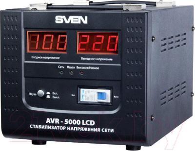 Стабилизатор напряжения Sven AVR-5000 LCD - общий вид