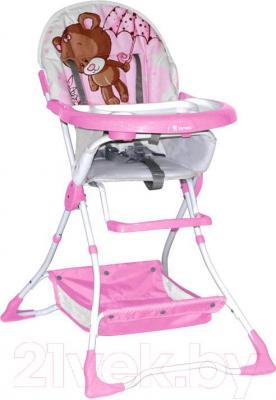 Стульчик для кормления Lorelli Bravo (Pink Bear) - общий вид
