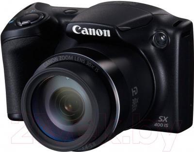 Компактный фотоаппарат Canon PowerShot SX400 IS (черный) - общий вид