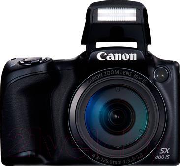 Компактный фотоаппарат Canon PowerShot SX400 IS (черный) - со вспышкой