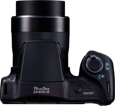 Компактный фотоаппарат Canon PowerShot SX400 IS (черный) - вид сверху
