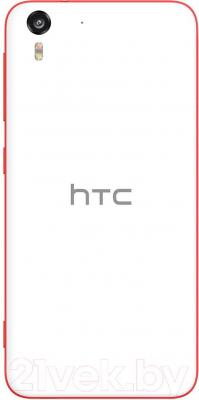 Смартфон HTC Desire Eye (бело-красный) - вид сзади