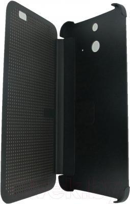 Чехол-книжка HTC Dot View Flip Case E8 HC M110 (серый) - в раскрытом виде