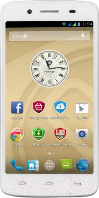 Смартфон Prestigio MultiPhone 5507 Duo (White) - общий вид