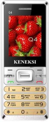 Мобильный телефон Keneksi Q4 (золотой) - общий вид