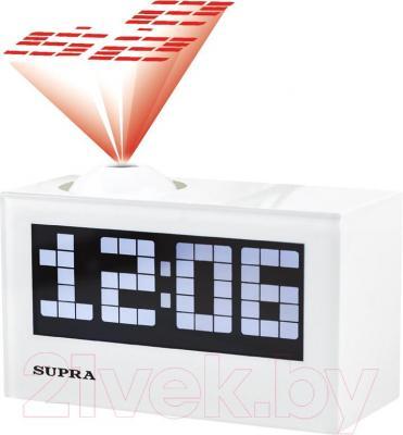 Радиочасы Supra SA-42FMP (White) - общий вид
